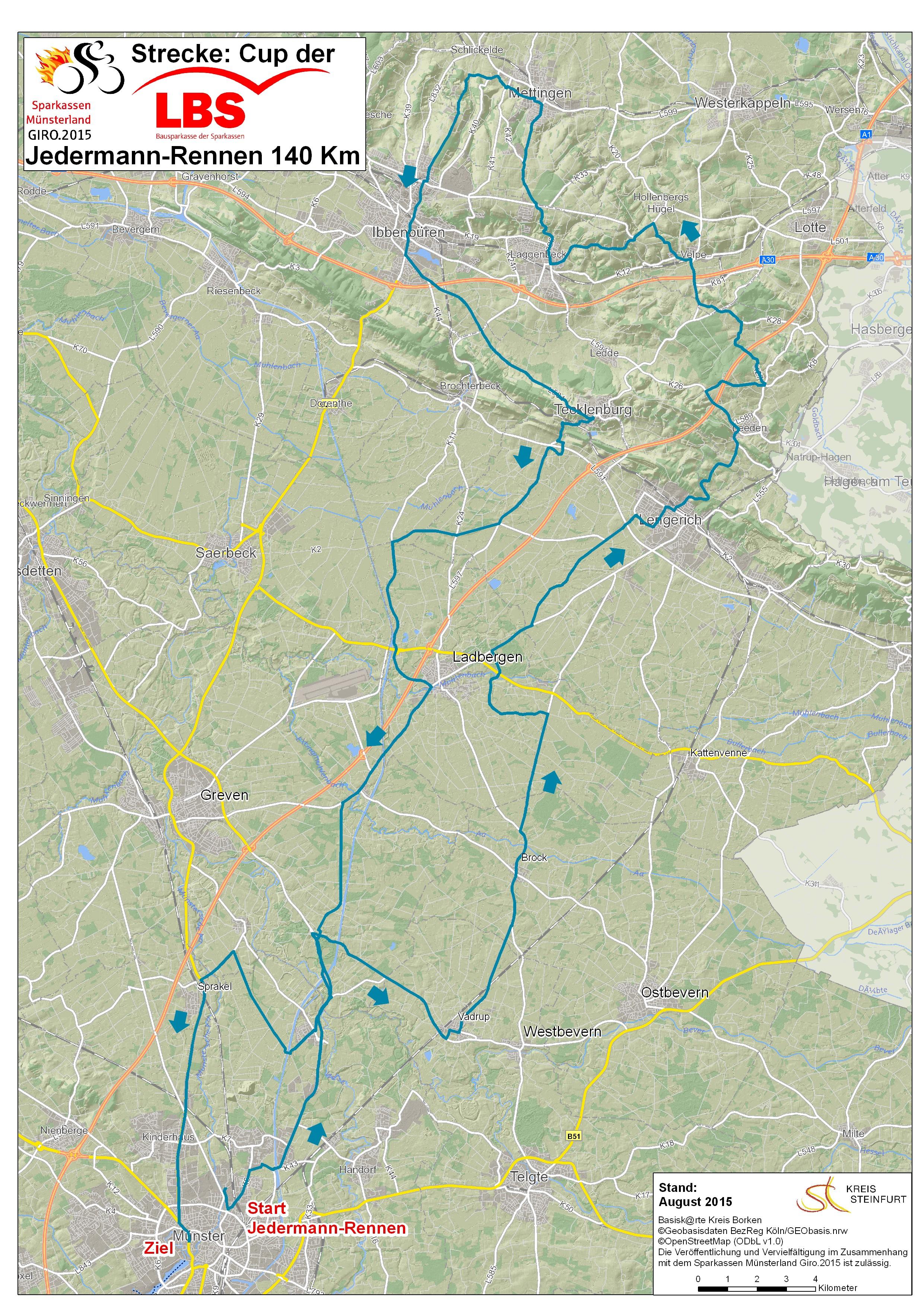 Strecke münsterland giro 2019